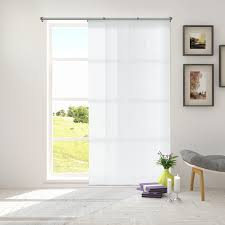 shop amazon com window vertical blinds chicology adjustable sliding panels cut to length curtain drape vertical blind light filtering privacy daily white