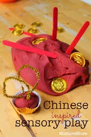 New Year Decoration For Preschool by Chinese New Year Sensory Play With Spice Play Dough Chinese