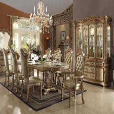 gold dining table set dining room set vendome gold patina antique recreations