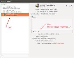 format exfat partition ubuntu how to format a usb flash drive ask ubuntu
