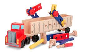 wooden truck melissa u0026 doug big rig truck wooden building set 22 pcs toys