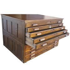 Timber Filing Cabinets Hamilton Oak Flat File System From Metro Retro Furniture Blast