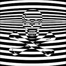 skull and crossbones jolly roger digital art by slot machine