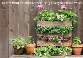 how to plant a flower garden using a recycled wood pallet one