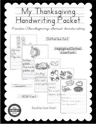 my thanksgiving my thanksgiving handwriting packet your therapy source