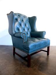 Leather Tufted Chair Incredible Tufted Leather Wingback Chair For Your Famous Chair