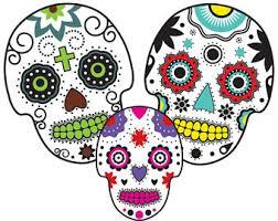sugar skull clipart etsy