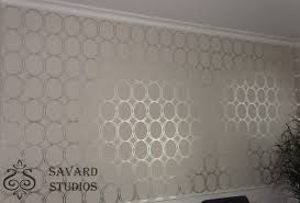 savard studios contemporary silver circles
