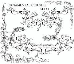 ornamental floral corners cool adobe photoshop brushes ps