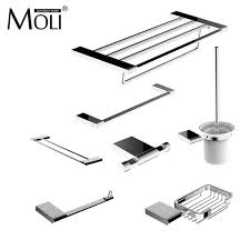 Modern Bathroom Accessories Sets Modern Bathroom Accessories Set Wall Mount Chrome Finish Towel Bar