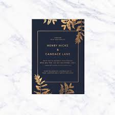 Foil Wedding Invitations Foil Wedding Invitations Sail And Swan Studio