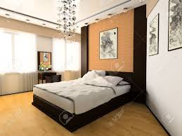 Modern Style Bed Bedroom In Modern Style 3d Image Stock Photo Picture And Royalty