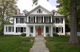 modern home design new england contemporary colonial house plans fresh white wall grey roof new