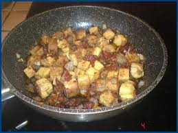 cuisiner tofu poele tofu aux tomates séchées et au vinaigre balsamique