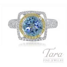 fine engagement rings images 18k white and yellow gold blue topaz fancy yellow diamond halo jpg
