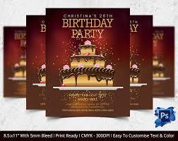 Christmas Card Invitation Templates Free Birthday Flyer Template U2013 31 Free Psd Ai Vector Eps Format