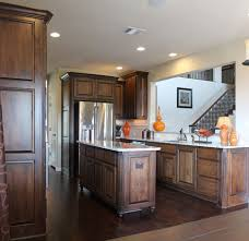 burrows cabinets kitchen in stained knotty alder island with bunn