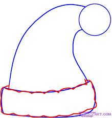 how to draw a santa hat step by step christmas stuff seasonal