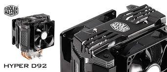 cooler master cpu fan cooler master hyper d92 cpu air cooler 92mm 4 pin rifle bearing