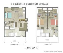 3 Bedroom Cabin Floor Plans by 3 Bedroom Cottage Capstone Cottages Of San Marcos
