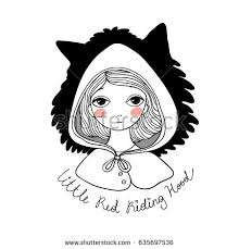 cute red riding hood stock vector 628448702 shutterstock
