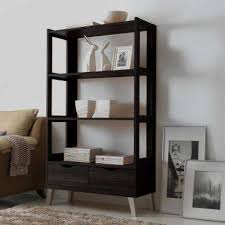 Home Office Bookcase Baxton Studio Bookcases Home Office Furniture The Home Depot