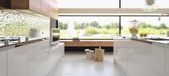 cuisine contemporaine blanche et bois cuisine bois et blanc recherche cuisine destiné à