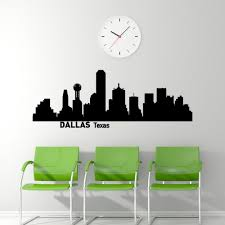 dallas skyline wall decal city silhouette dallas texas wall details dallas skyline wall