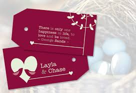 Beautiful Wedding Quotes For A Card 10 Favor Tag Ideastruly Engaging Wedding Blog