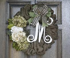 monogram wreath burlap wreath monogram wreath chevron wreath year wreath