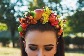 fruit headband fruit headband fall harvest crown fruit headpiece fairy fruit