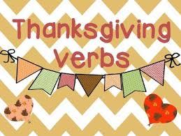 thanksgiving verbs paragraph thanksgiving and sentences