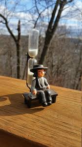 Hourglass Home Decor Old Cast Iron Amish Boy Sand Hourglass Vintage 3 Minute Kitchen