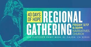 40 days of unity narratives church el cajon