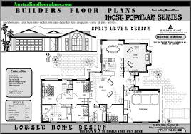 split level house plan split level house floor plans house scheme