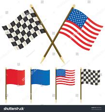 Flag Com Stars Stripes Flag Winners Checkered Flag Stock Vektorgrafik