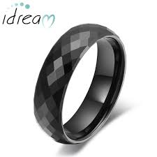 unique matching wedding bands his and hers black faceted domed tungsten wedding bands unique tungsten