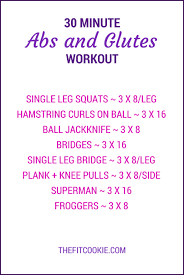 30 minute abs and glutes workout the fit cookie