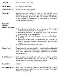 cute mental health job description counselor resume counselling