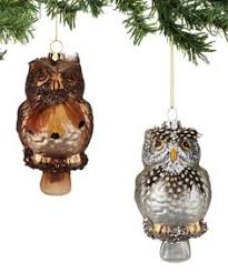 stylized glass owl ornament dept 56 winters lodge collection 4 5
