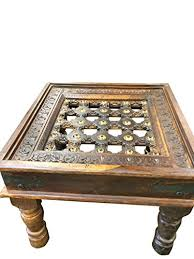 rustic solid wood coffee table indian style rustic solid wood coffee table handcrafted brass indian