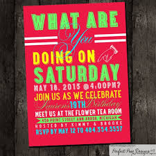 birthday invites chic teen birthday invitations design ideas