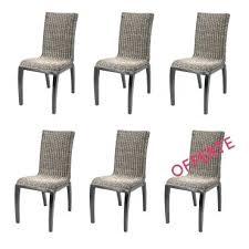 lot de 6 chaises salle à manger conforama chaise de salle a manger lot 6 chaises en osier chaise a