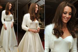 after wedding dress kate middleton shows second mcqueen gown for royal