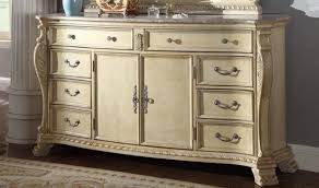 Antique White Bedroom Dressers Monaco Bedroom Set In Rich Antique White By Meridian Furniture