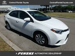 toyota com 2015 used toyota corolla 4dr sdn le cvt at central florida toyota