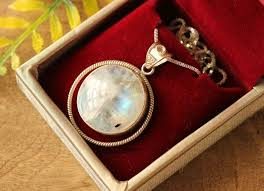 round pendants necklace images Buy artisan rainbow moonstone pendant necklace round silver jpg