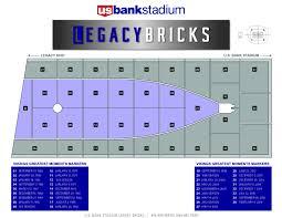 Bank Of America Stadium Map by Legacy Bricks U S Bank Stadium