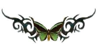 green butterfly tribal tattoo by ivory buttons on deviantart