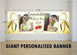 Congratulations Wedding Banner Personalised Giant Large Congratulations Wedding Engagement